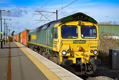 66548 - Nuneaton - 16/02/18. (TRphotography04) Tags: freightliner 66548 glides through nuneaton working 4l46 1212 lawley street flt london gateway frghtliner