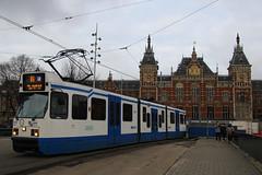 920, Amsterdam Centraal, January 27th 2015 (Southsea_Matt) Tags: 920 route16 serie11g gvbamsterdam centraalamsterdamhollandthe netherlandspassenger travelpublic transporttrammetrolight rail