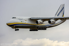 Antonov An124 (lee adcock) Tags: antonov dsa runway02 ur82009 airplane an124 nikon70200f28vri nikond7200 snow tc14