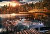 Etang de la Gruère (Chrisnaton) Tags: étangdelagruère jura switzerland lake nature landscape autumncolors sunset