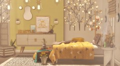 Glitter and Gold (Kess Crystal @ The Glamour Sauce) Tags: hive luxebox granola ariskea unkindness fameshed cosmopolitan theloft mudhoney kalopsia lode soy secondlife sl decor homes bedroom sales events yellow gold virtualhomes virtualdecor vr virtualreality furniture houses