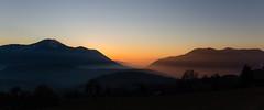 Lets dream (ElmerstarK) Tags: mist montain exterieur contrast landscape sunset paysage nature coucherdesoleil montagne sky outdoor goldenhour brume orange ciel mieussy auvergnerhônealpes france fr
