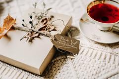danke für euer vertrauen (Yuliya Bahr) Tags: tea red box customers package teatime plants design handmade leaves cup cosy white porcelain