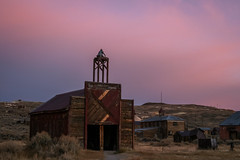Bodie Firehouse at Sunset, 2005 (Jeffrey Sullivan) Tags: bodie state historic park bridgeport mono county easternsierra california usa landscape nature abandoned photography canon digital rebel xt photo copyright october 2005 jeff sullivan sunset firehouse