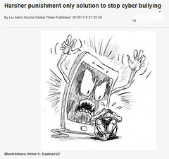 2018_01_190100 - Cyber-Bullying (Gwydion M. Williams) Tags: humor humour funny globaltimes china cyberbullying computers internet