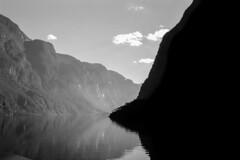 Aurlandsfjorden, Norway: The Contrast No.1 (rocinante11) Tags: norway aurlandsfjord fjord bw blackwhite monochrome contrast silhouette film filmcamera