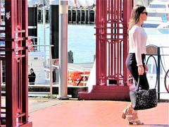 Princes Wharf (thomasgorman1) Tags: street wharf harbour sea woman people auckland candid walking fashion sunglasses tourism newzealand streetshots public sunshine urban waterfront