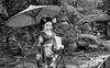 Mameryu - Maiko in Kyoto Tryptych 3 of 3.jpg (JUNEAU BISCUITS) Tags: mameryu geisha kyoto gion portrait portraiture japan japanese nikon nikond810 hawaiiphotographer garden temple umbrella kimono blackandwhitephotography blackandwhite