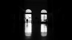 (elgunto) Tags: estacion barcelona railwaystation people street silhouettes highcontrast blackwhite bw monochrome light shadows windows x100s fujifilm fujix
