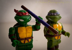 Green and Ready (SoS) (13skies (Cast off, brace on. Healed but still sore) Tags: sos smileonsaturday mask fun toys props small macroscopic macro yellow green teenagemutantninjaturtles kids