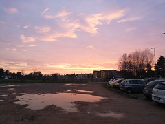 Uninsubria, periferia di campagna (davidepremoselli) Tags: sky uni clouds sunset afternoon rain water mirror nofilters monet