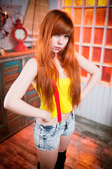 What? (Chizury) Tags: ifttt 500px portrait girl beauty beautiful woman adult female style hair caucasian sexy redhead cosplay women dress indoor misty casual young redhair embrace standing posing attractive seduction fashionable one person pokemon clothing 2024 years