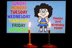 Happy Birthday 7DWF (HansHolt) Tags: 7dwf 2years happybirthday felizcumpleaños felizcumple joyeuxanniversaire herzlichenglückwunschzumgeburtstag vanhartegefeliciteerd cake taart birthday verjaardag candle kaars canon 6d 100mm canoneos6d canonef100mmf28macrousm