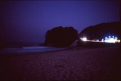 (✞bens▲n) Tags: pentax lx velvia 100 at200 fa 31mm f18 limited film analogue slide dark night japan shizuoka beach ocean