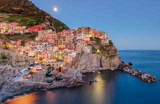Italy: Manarola Moonrise