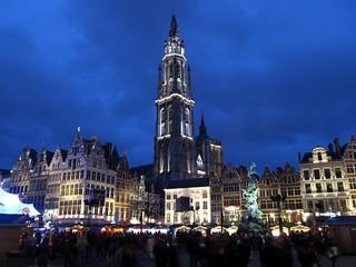 Grote Markt en Onze-Lieve-Vrouwekathedraal, Antwerpen