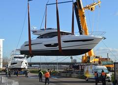 Princess S65 (2) @ RVD 19-01-18 (AJBC_1) Tags: royaldocks london londonsroyaldocks motoryacht dlrblog luxuryyacht newham londonboroughofnewham eastlondon docklands england unitedkingdom uk ©ajc nikond3200 luxurymotoryacht lbs18 lbs2018 londonboatshow2018 ajbc1 luxurylifestyle royalvictoriadock rvd excelexhibitioncentre londonexcelcentre excellondon customhouse crane mobilecrane ainscoughcranehire princessyachts princesss65 boat vessel terexcranes ou10aff