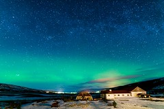 Aurora in CJA Guesthouse Iceland (Francisco_Peña) Tags: auroraboreal northernlights auroraborealis iceland islandia landscapephotography travel nikon sigma sigma20mm cielo sky