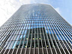 The Walkie-Talkie, London, England (duaneschermerhorn) Tags: architecture building skyscraper structure highrise architect modern contemporary modernarchitecture contemporaryarchitecture reflection reflective reflectivebuilding glass windows glassclad mirror distortion sky clouds blue white