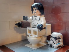 Biggest fear (sander_sloots) Tags: lego stormtrooper toilet wc bricks moc my own creation helmet paper toiletpapier wcpapier starwars toy speelgoed afol