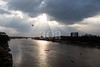 5D8_7678-2 (bandashing) Tags: river surma monsoon flood keanebridge landscape skyline sky clouds riverbank birds fly water darkclouds sylhet manchester england bangladesh bandashing aoa socialdocumentary akhtarowaisahmed
