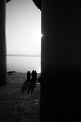 Between The Time (Harshal Orawala) Tags: india varanasi blacknwhite harshalorawala 121clicks day night sun lights