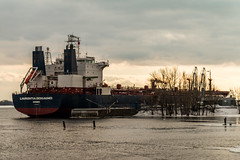 They let me drive this thing (langdon10) Tags: canada canon70d laurentiadesgagnes montreal navigation quebec ship shoreline stlawrenceriver tanker cold nautical outdoors winter