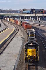 "Eastbound Transfer in Kansas City, MO (""Righteous"" Grant G.) Tags: kct kansas city terminal missouri east eastbound transfer freight emd power locomotive yard job union station"