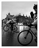 Friendly cyclist! (Wilco1954) Tags: uk westminster bigben cyclists parliament london places refurbishment commuters