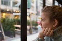 Teal (LukeHezekiah) Tags: cozy germany window bokeh girl teal sweater pulli