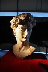 P2020146 (photos-by-sherm) Tags: michelangelo bust david replica cameron art museum wilmington nc pancoe center winter spotlight floodlights kissing