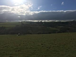 Englishcombe castle sky