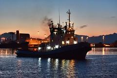 Cagliari harbor (alessandrotamponi) Tags: harbor marineria lavoro tramonto portorimorchiatore cagliari sardegna