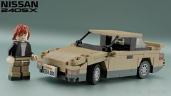 "Nissan 240SX Coupe NA Spec aka ""Onevia"" (initial_dvache) Tags: ldd lego blender mecabricks car 6wide nissan"