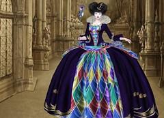 Mila Blauvelt (Mila Blauvelt) Tags: milablauvelt model avatar secondlife gown designer lamufashion costume queenofthecarnival carnival mask dress dressmesh shopping virtual sl style