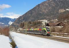 ETR170, Campo di Trens, 8 Feb 2018 (Mr Joseph Bloggs) Tags: etr170 emu brennero brenner merano meran trenitaia train treno railroad railway bahn campo di trens italy snow