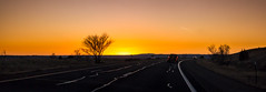 Road to Albuquerque (Dan Warkentin) Tags: sunset albuquerque new mexico road freeway interstate driving