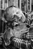 En man älskar sin hund (avaughan585) Tags: portrait blackandwhite black white noiretblanc hund love hug afghan hound family companionship companion digital eos canon 1200d man cuddles bw photography moment