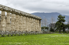 Temple of Hera in Paestum, Italy (firstfire53) Tags: europe italy ruins roman greek templeofhera posidonia paestum