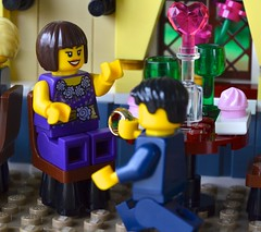"""Say """"Yes!"""" (linda_lou2) Tags: 365the2018edition 3652018 day45365 14feb18 odc bemyvalentine 45365 365toyproject lego minifigure minifig valentinesdaydinner valentinesset proposal"""