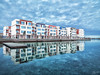 Building Row (A. Shamandour) Tags: jeddah jedda saudiarabia sa boats port landscape sea sunset sunrise hasselblad nikonsky clouds reflections