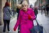 Pink Lady (Leanne Boulton) Tags: people portrait urban street candid portraiture streetphotography candidstreetphotography candidportrait streetportrait eyecontact candideyecontact streetlife old elderly aged woman female face expression eyes emotion feeling mood makeup bright pink coat colourful winter expressive tone texture detail depthoffield bokeh naturallight outdoor light shade city scene human life living humanity society culture lifestyle style fashion canon canon5d 5dmkiii 70mm ef2470mmf28liiusm character color colour glasgow scotland uk