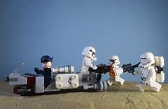 Retreat (Adraryel1) Tags: starwars guerrestellari lego toy toys stormtrooper stormtroopers firstorder