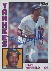 1984 Topps - Dave Winfield #460 (Outfield) (Baseball Hall of Fame 2001) - Autographed Baseball Card (New York Yankees) (Treasures from the Past) Tags: 1984 topps 1984topps baseball cards baseballcard vintage auto autograph graf graph graphed sign signed signature hof halloffame baseballhalloffame davewinfield newyorkyankees nyyankees outfield torontobluejays