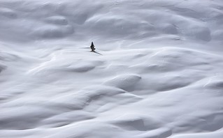 Italy, lost through snow waves
