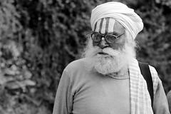 Whites of wisdom (Rahul Gaywala) Tags: monk sadhu hindu old man monochrome canon 5d 5dm3
