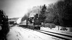 Still Steaming... (JohnN60) Tags: lancashire east elr vale irwell railway locomotive steam horwich 1896 060 class27 lyr 52322 bw