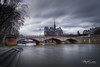 It's not sunny in Paris today (marko.erman) Tags: paris france seine river cathedral notredame water raining highlevel badweather grey sony city architecture longexposure wideangle