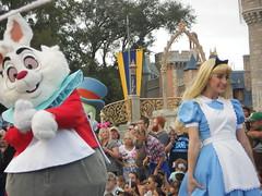 Alice and the White Rabbit (DisneyGirl13!) Tags: walt disney world waltdisneyworld wdw festival fanatsy festivaloffantasy aliceinwonderland alice whiterabbit