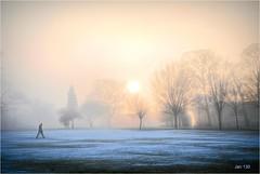 So far away - in morning mist (Jan 130) Tags: jan130 lonefigure music direstraits pypehayespark englanduk